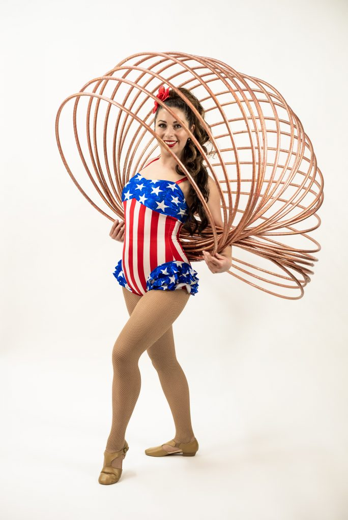 Patriotic Hula Hoop Girl
