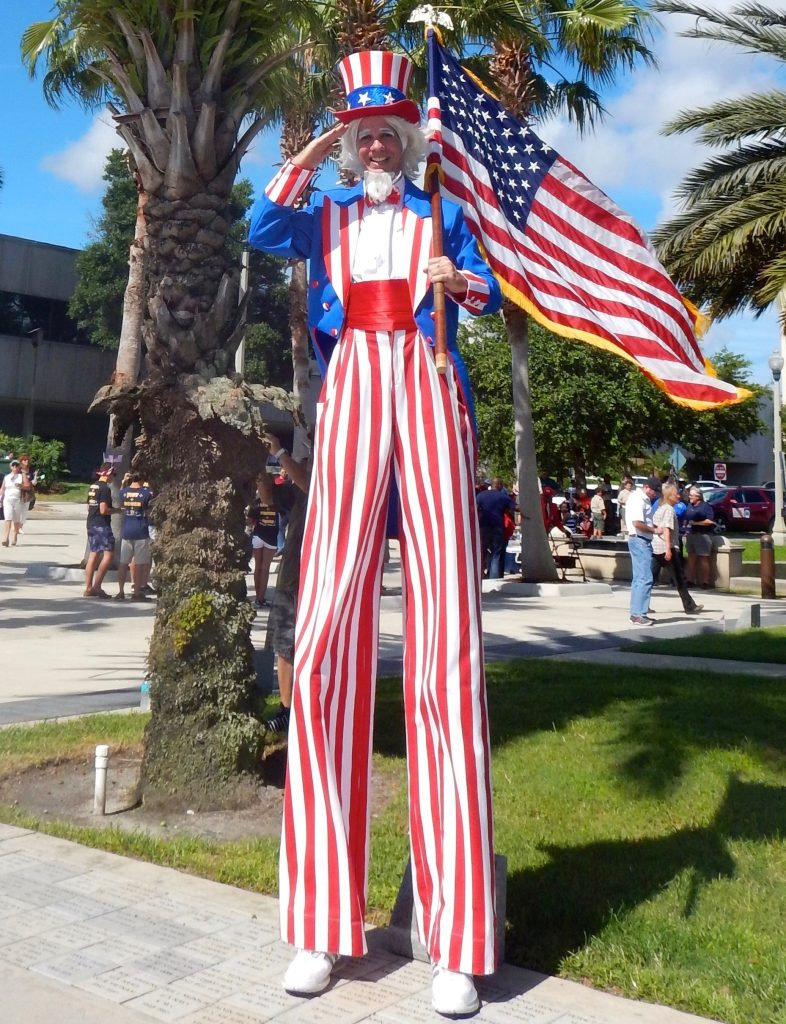 Patriotic Uncle Sam Stilt Walker