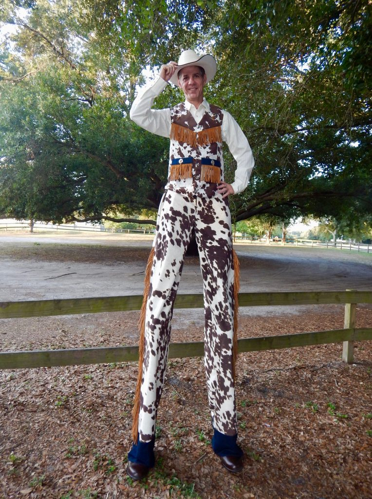 Cowboy Stilt Walker in Florida